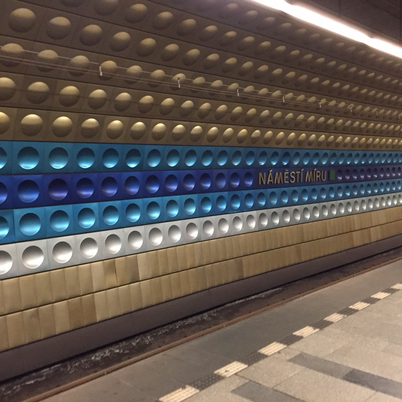 Prague metro station - Namesti Miru
