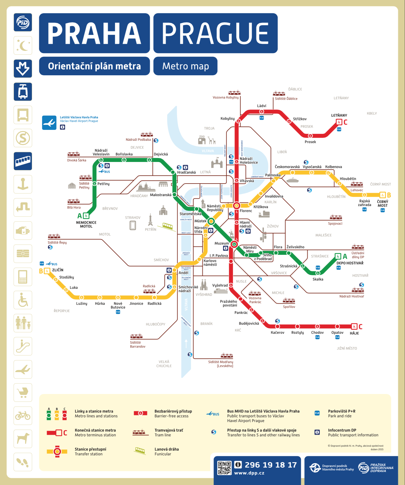 Prague metro city map