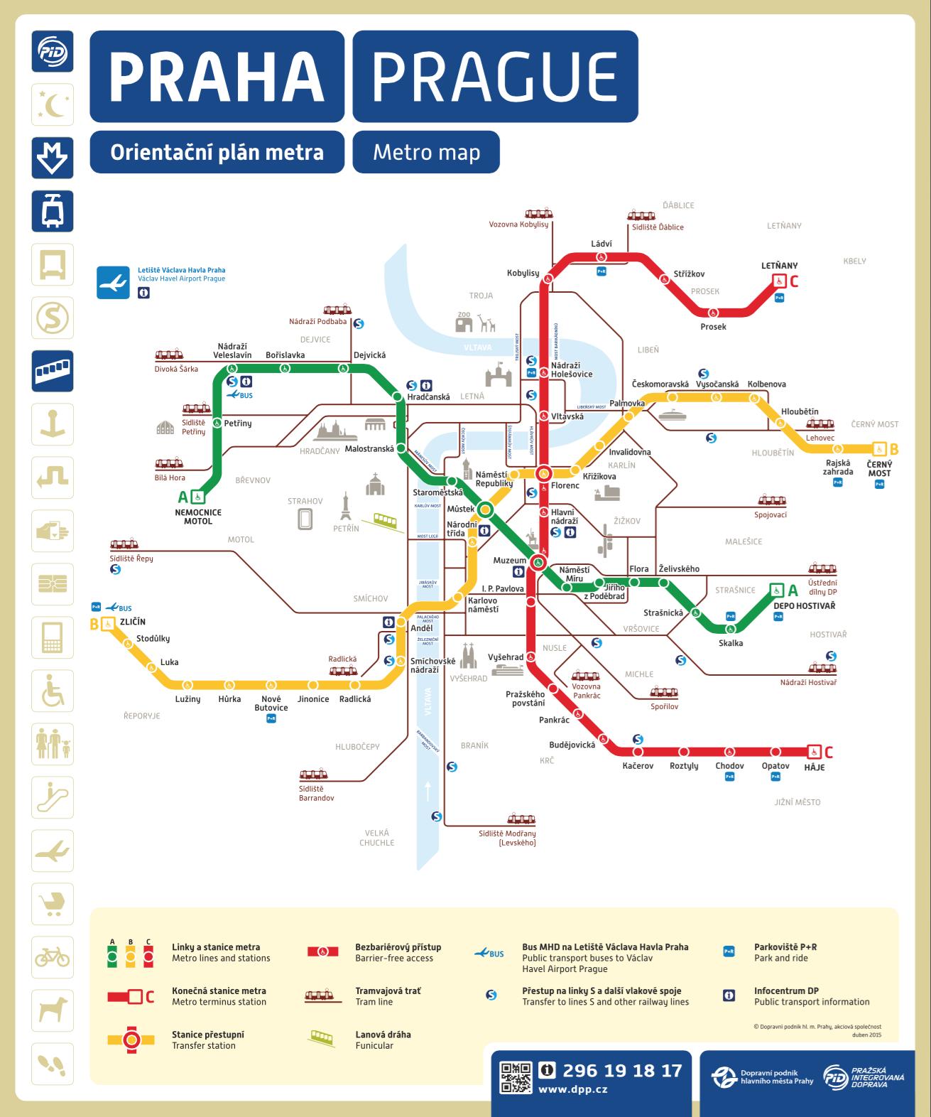 Prague Subway Mapinfo.Prague Public Transport City Map Metroprague Com
